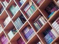 Futurystyczna półka z książkami